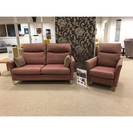Picture of Milo High Back 3 Seater Sofa And 2 Chairs Dundee SR13623
