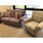 Picture of Oakworth 3 Seater Sofa and Chair in Harrison Thistle and Brodie Thistle Fabric