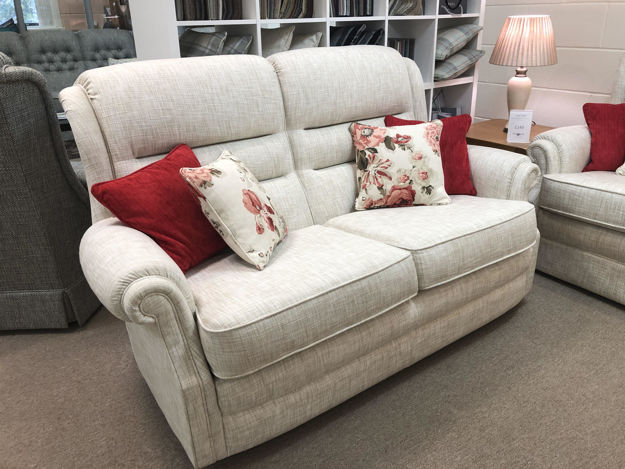 Picture of SOLD  Langfield 2 Seater Sofa and Power Recliner in Hawes Chalk