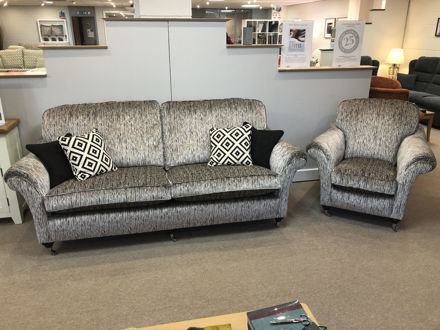 Picture of Florence Grand Sofa & Chair in Almera Carbon