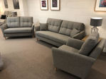 Picture of Lexi 3 Seater, 2 Seater and Chair in A lovely grey chenille fabric