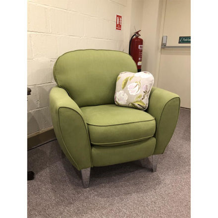 Picture of Goya Tub Chair in Isles Olive Fabric
