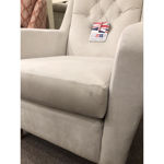 Picture of Sara Chair in Velour Ivory Fabric