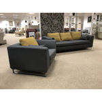 Picture of Mode 3 Seater Sofa and Chair in Finlay 7152 Graphite Fabric