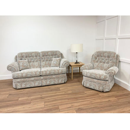 Picture of Capri High Arm 2 Seater Sofa and Chair in Plush 50 Fabric
