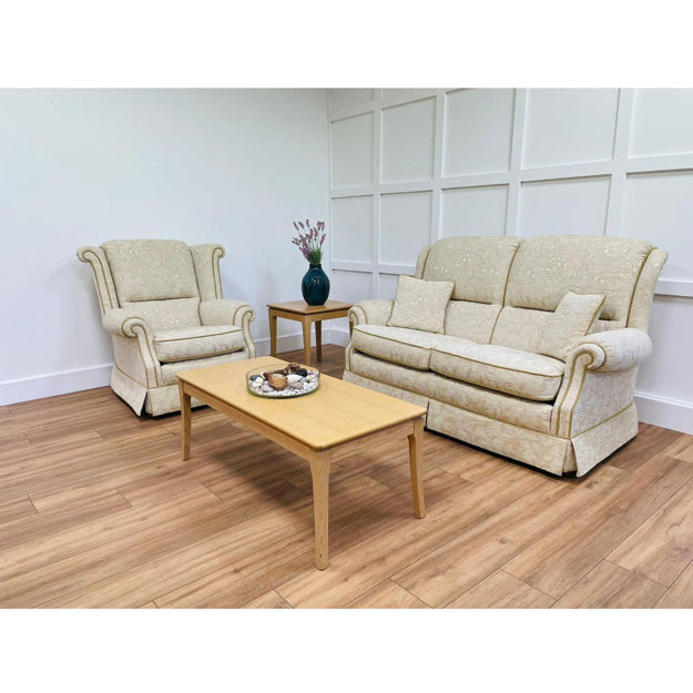 Picture of Sorrento 2 Seater Sofa and Sienna Chair in Dallas Sand Fabric