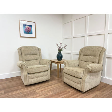 Picture of 2 Langfield Chairs in Ripple Honey Fabric