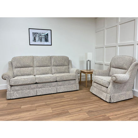 Picture of Malvern 3 Seater Sofa and Chair in Prato 10 Fabric