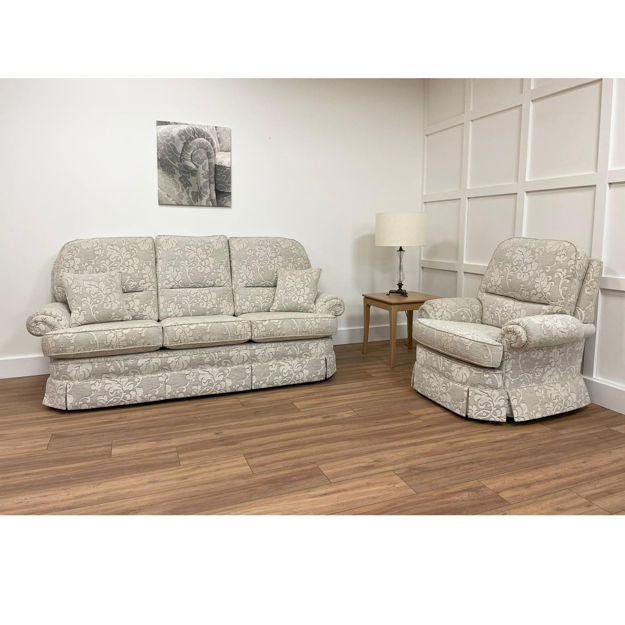 Picture of Buckingham 3 Seater Sofa and Chair in Prato 10010 Fabric