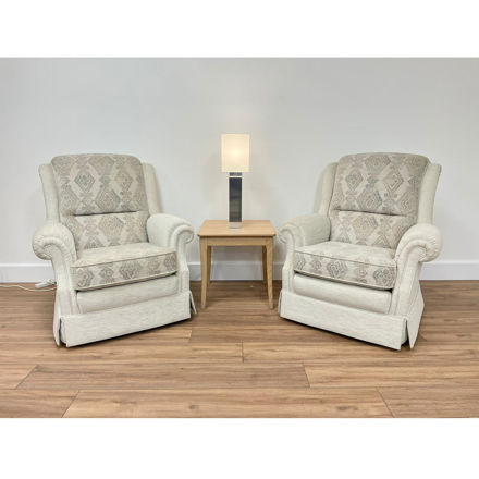 Picture of 2 Sorrento Chairs in Ross 13405 / 13425 Fabric